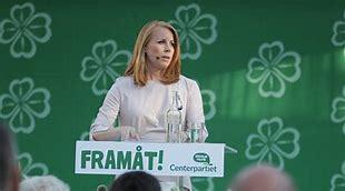 Bildresultat för centerpartiet annie Lööf framåt genom krisen